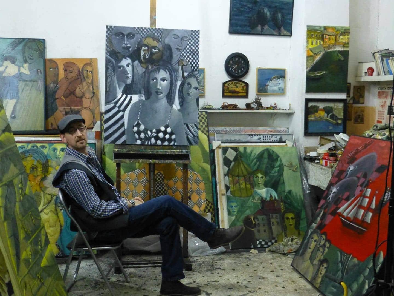 Ο γνωστός Ιτιώτης ζωγράφος Σπύρος Λύτρας εύχεται καλή πρωτομηνιά με έναν του Πίνακα…